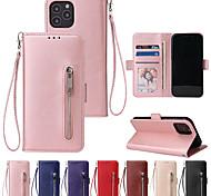 economico -telefono Custodia Per Apple Integrale Custodia in pelle Custodia flip iPhone 12 Pro Max 11 SE 2020 X XR XS Max 8 7 6 Porta-carte di credito Resistente agli urti Con chiusura magnetica Tinta unica