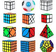 economico -Set Speed Cube 12 pcs Cubo magico Cube intuitivo 2*2*2 3*3*3 4*4*4 Cubo a pazzle Anti-stress Cubo a puzzle Liscio Giocattoli per ufficio Rompicapo A piramide A specchio Palla arcobaleno Per bambini