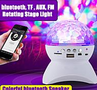 abordables -Haut-parleur sans fil bluetooth lumière de scène rgb led boule de cristal effet lumière dj club disco fête éclairage rechargeable usb / tf / fm