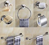 abordables -ensemble d'accessoires de matériel de salle de bain-porte-serviettes porte-papier hygiénique crochet de robe porte-serviette porte-savon-sus304 en acier à faible teneur en carbone en métal fixé au mur