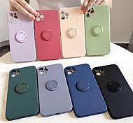 economico -telefono Custodia Per Apple Per retro Silicone Custodia in silicone iPhone 12 Pro Max 11 SE 2020 X XR XS Max 8 7 Resistente agli urti Supporto ad anello Tinta unica Silicone