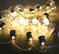 economico -globo lampadina stringa alimentata a batteria esterna impermeabile fata luce stringa ghirlanda di natale matrimonio festa in giardino