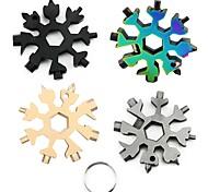 economico -18 in 1 chiave a fiocco di neve portachiavi multifunzione esagonale chiave da escursione esterna portachiavi multiuso camp sopravvivere a mano strumenti esagonali