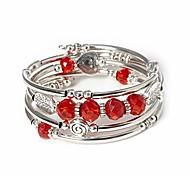 abordables -cristal wrap bracelet bijoux de mode bracelet argent métal cadeaux arbre de vie pour les femmes (rouge)