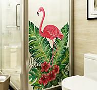 abordables -givré vie privée dessin animé animaux motif fenêtre film maison chambre salle de bains verre fenêtre film autocollants auto-adhésif autocollant