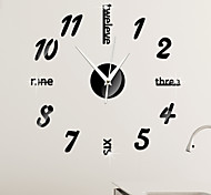 abordables -DIY horloge murale 3d miroir surface autocollant maison bureau décor horloge miroir autocollants horloges murales décoration de la maison horloges