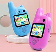 abordables -mwz enfants talkie-walkie caméra caméscope mini vidéo hd jouets talkie-walkie caméscope lecteur de musique mp3 jeu meilleur cadeau pour les enfants