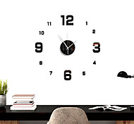 abordables -Nouveau 3d bricolage acrylique horloge stickers muraux maison décoration moderne cristal miroir art autocollant miroir mur autocollant horloge stickers