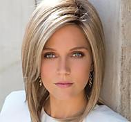 abordables -perruque synthétique droite bob perruque cheveux synthétiques bruns courts conception à la mode des femmes en surbrillance / balayage cheveux brun exquis