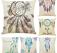 economico -set di 6 romantici campanelli eolici in lino quadrato decorativo federe per cuscini fodere per cuscini per divani 18x18
