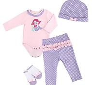 abordables -Vêtements de poupées Reborn Baby Accessoires de poupée Reborn Tissus pour 20-22 pouces Reborn Doll Poupée Reborn Non Incluse Doux Pur fait main Fille 4 pcs