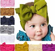 economico -Bambino (1-4 anni) / Bebè 1 pz Essenziale Da ragazza Nero / Bianco / Rosso Tinta unita / Con fiocco Tinta unita Accessori per capelli Elastene / Cotone Bianco / Nero / Viola Taglia unica