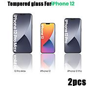 economico -telefono Proteggi Schermo Apple iPhone 12 iPhone 11 iPhone 12 Pro Max iPhone XR iPhone 11 Pro Vetro temperato 2 pz Alta definizione (HD) Durezza 9H A prova di esplosione Proteggi-schermo frontale