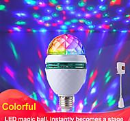 abordables -Lampe de projecteur magique colorée boule e27 lampe à LED ampoule de scène de lumière disco lumière de fête rvb à rotation automatique pour la fête de famille ktv dj piste de danse (avec adaptateur de