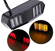 abordables -2pcs 30w 6led lumières élégant moto feu arrière feu indicateur de frein lampe arrière LED lumière moto modifié accessoires lumière décorative