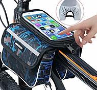 abordables -sac de vélo, sac de téléphone de tube supérieur de vélo sac de rangement de vélo pour écran de téléphone max 6.2in avec écran tactile étanche cas de téléphone