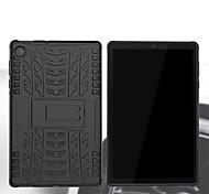 abordables -téléphone Coque Pour Tablettes Lenovo Coque Arriere Lenovo Tab E10 TB-X104F M10 Plus TB-X606F Lenovo Tab4 10 (TB-X304F / N) Lenovo Tab E7 TB-7104 Antichoc Avec Support Armure TPU PC