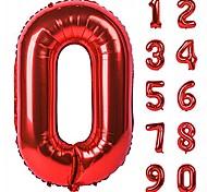 abordables -40 pouces noir grands nombres 0-9 décorations de fête d'anniversaire feuille d'hélium mylar grand numéro ballon numérique 1