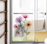 abordables -givré vie privée rêve fleur motif fenêtre film maison chambre salle de bains verre fenêtre film autocollants auto-adhésif autocollant 116 * 60 cm