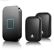 abordables -sonnette sans fil auto-alimentée cacazi étanche aucune batterie requise 150 m à distance maison intelligente sonnette de porte
