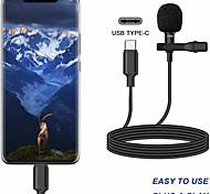 economico -Microfono a clip da bavero con cavo a mani libere esterno portatile di tipo C per altoparlante, telefono, accessorio per computer