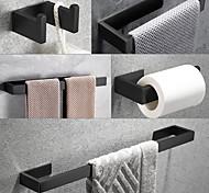 economico -Il set di accessori da bagno sus304 include gancio per accappatoio, portasciugamani, portasciugamani, porta carta igienica, acciaio inossidabile nero opaco autoadesivo - bagno per casa e hotel