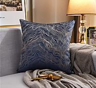 abordables -Texture couleur assortie ligne d'or jacquard brodé taie d'oreiller couverture salon chambre canapé housse de coussin