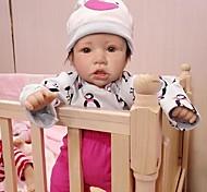 abordables -22 pouce Poupées Reborn Jouet pour Bébé & Nourrisson Bébés Fille Saskia réaliste Fabrication à la main Simulation Tissu Vinyle de silicone cadeaux noël enfant avec vêtements et accessoires pour les