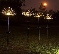 abordables -led solaire feux d'artifice lumière pelouse jardin chaîne lumière extérieure étanche bricolage pissenlit décor lampe solaire pour patio cadeau de noël pour enfants jouet