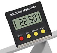 abordables -Mini 360 degrés magnétique numérique inclinomètre boîte de niveau angle mètre rapporteur chercheur base outils de mesure
