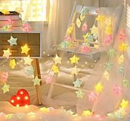 economico -3m 6m led crack star fata lampada albero di natale stringa scintillio ghirlande batteria flash festa di nozze decorazioni per interni luci