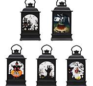 abordables -Halloween décoration cheminée lumière fantôme festival décoration transparent vent lumière led bar atmosphère décoration fournitures