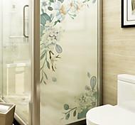 abordables -givré vie privée motif floral fenêtre film maison chambre salle de bains verre fenêtre film autocollants auto-adhésif autocollant