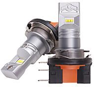economico -otolampara 2pcs ha condotto la lampadina h15 faro abbagliante adatto per volkswagen / ford zes chip doppi lati illuminazione rimozione del calore in alluminio al 100% 55w lampadina drl led can-bus h15