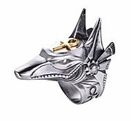 economico -Anello in acciaio inossidabile 316l per uomo creativo egitto anubis god e ankh cross biker anello punk gioielli in acciaio inossidabile taglia 8-15 (argento, 13)