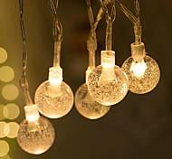 abordables -2 pièces 1 pièces décoration de fête de vacances guirlande lumineuse 6 m 40 LED boule de cristal clair fée chaîne lumière fête de mariage décoration extérieure lampe
