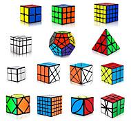 abordables -Ensemble de cubes de vitesse 14 pcs Cube magique Cube IQ 3*3*3 Pack Speedcubing Cube de puzzle 3D Anti-Stress Cube casse-tête Sans étiquettes Lisse Jouets de bureau Pyramide Miroir Megamix Enfant