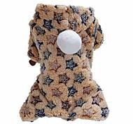 economico -inverno pet dog puppy warm dot star print costume soft coat felpa con cappuccio giacca abbigliamento per cani cuccioli facile da indossare 1 # xs