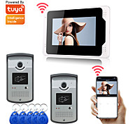 economico -LITBest Wi-fi / Con fili e senza fili 7 pollice Registrazione / RFID Sistema Hands-Free Videocitofono Two to One