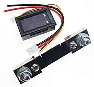 abordables -DC 0-100v 100a voltmètre numérique ampèremètre double affichage détecteur de tension compteur de courant panneau amp volt jauge