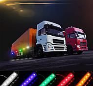 abordables -DC12v / 24v 6 leds côté marqueur indicateur lumineux lampe smd2835 ip65 résistance à l'eau pour camion bus remorque rv voiture