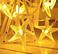 abordables -1.5m 10leds 3m 20 leds guirlandes d'étoiles guirlandes led guirlande lumières alimenté par batterie lanterne de noël jardin extérieur mariage filles chambre décoration livraison sans batterie
