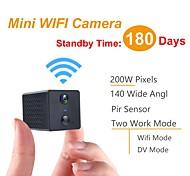 abordables -Mini caméra WiFi HD 1080p Vision nocturne Micro caméra Détection du corps Mini caméscope PIR Prise en charge de la carte 128G