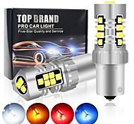 abordables -Automatique LED Feux de Circulation Diurnes / Clignotants / Feux de freinage Ampoules électriques 1600 lm SMD 3030 4 W 21 Pour Universel Toutes les Années 2 pièces