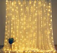 abordables -2pcs lumières de décoration de noël led rideau de glaçons 300leds 3mx3m led fenêtre fée guirlande lumineuse décoration de noël lumière pour chambre guirlande de mariage fête à la maison 2pcs 1pc