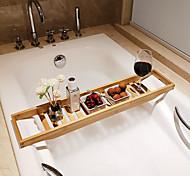 abordables -étagère de baignoire caddy de bain en bois de bambou peut livre de rangement, ipad ou porte-verre à vin plateau organisateur de salle de bain antidérapant