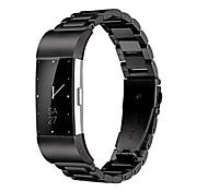 economico -Fitbit Charge 2 cinturino da polso, cinturino in acciaio inossidabile sostitutivo in metallo con cinturino per orologio intelligente con chiusura pieghevole a doppio bottone per fitbit charge 2 (nero)