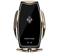 abordables -A8 voiture chargeur rapide sans fil magnétique serrage automatique chargeur rapide universel pour téléphones mobiles support de téléphone de support d'aération