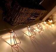 economico -3m 1.5m led retro geometrico goccia diamante lanterna luci stringa alimentato a batteria fiaba 10leds 20ledts natale capodanno decorazione della finestra