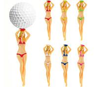 abordables -golf beauté tees 5 pièces 5 pièces accessoires de golf en plastique durable pour la compétition intermédiaire d'entraînement de golf couleur aléatoire